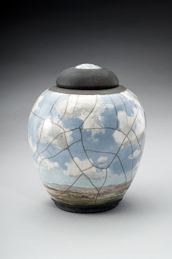 Raku Blue Sky by Laura Bruzzese - Click Image to Close