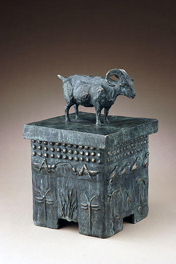 "Ram Urn ""Aries"" by Kelly Cozart - Click Image to Close"