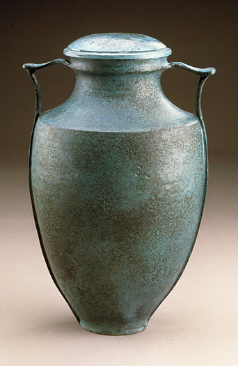 Bronze Amphora with handles by Carol Green & Lynn Hayes - Click Image to Close