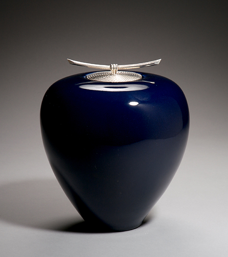 Spiral Urn: Cobalt by Carol Green - Click Image to Close